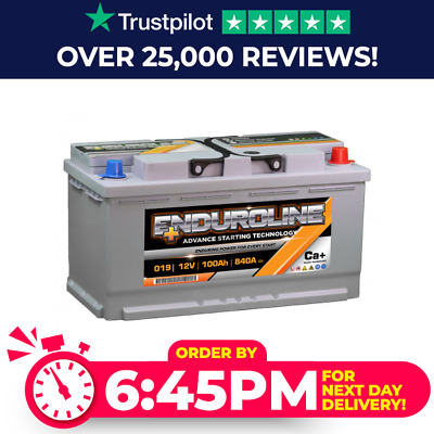 Enduroline 019 12V 100Ah Car Battery - fits many Iveco Jag Jeep Land Rover Merc
