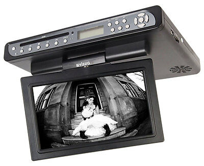Visua Flip Down Kitchen TV LCD With DVD and Freeview Matt Black FREE DELIVERY