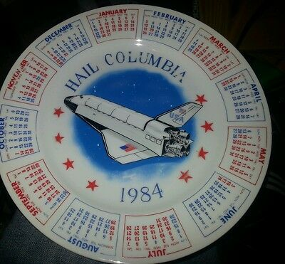 1984 Hail Columbia Vintage Calendar Collector's Plate