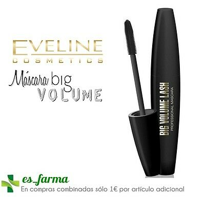 Eveline Mascara Pestañas Big Volumen Lash Proffesional Mascara 10Ml Negro