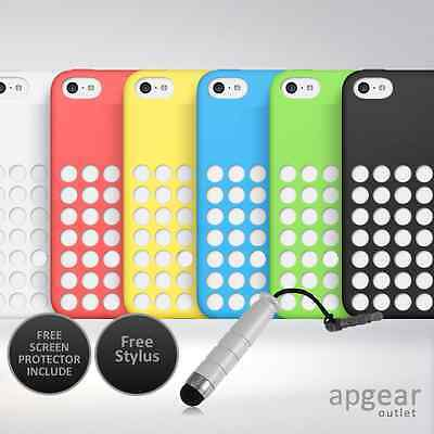 Matte TPU Silicone Case Cover Dot Holes for Apple iPhone 5C - Colours Available