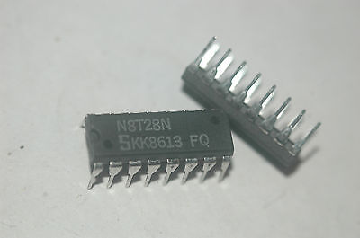 SIGNETICS N8T28N 4-Bit Bus Transceiver 16-Pin Plastic Dip New Lot Quantity-5