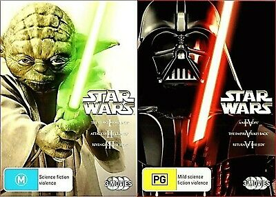 STAR WARS Original & Prequel Trilogy 1 2 3 4 5 & 6 Episodes I-VI (DVD) R4