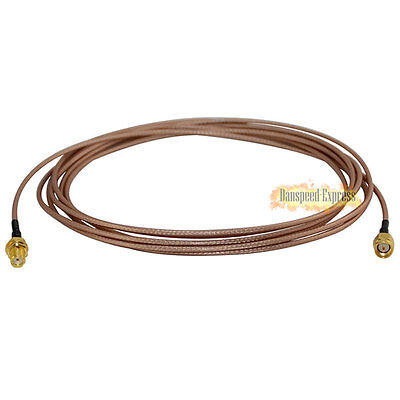 RF Coaxial SMA Male plug to Female Nut Extension Premium Pigitail Cable RG316 3m