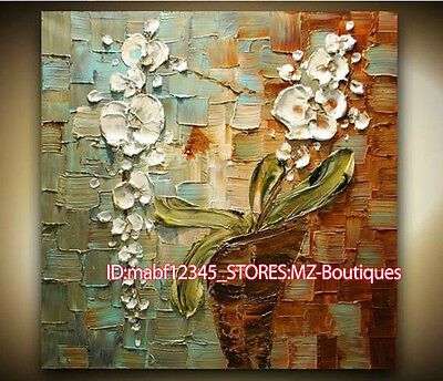 """Y840 20*20"""" Hand painted Oil Canvas Wall Art home Decor Abstract Floral NO Frame"""