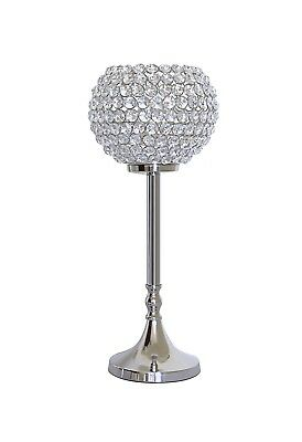 Crystal Globe Pillar Wedding Centerpieces Candle Holders Table Lamps 40CMS Tall