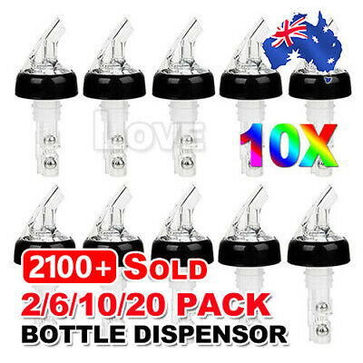 OZ Liquor Spirit Nip Measure Wine 30ml Shot Pourer Bottle Dispenser Barware Tool