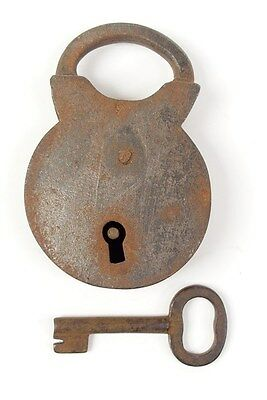 Vintage Iron Padlock *working Key* German Antique - # 14