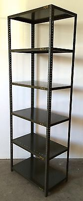 "Vintage Industrial Warehouse Metal Adjustable Steel Shelves Bookcase 30""x18"" #2"