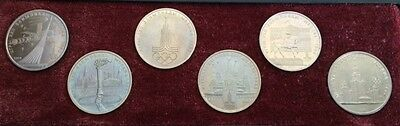 1980 USSR Commemorative Moscow Olympic Games Proof Like 6 Coin Set