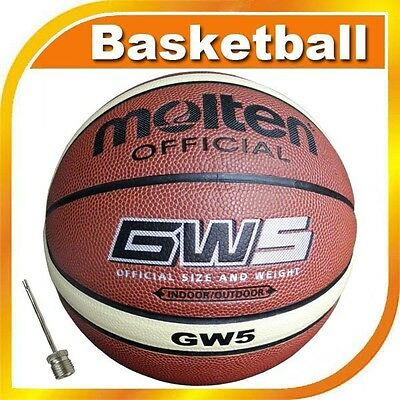 Youth Molten Official Size 5 Weight Indoor/Outdoor 27.5'' Sport Basketball GW5