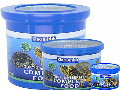King British Turtle And Terrapin Complete Food Natural Balanced Reptile Food