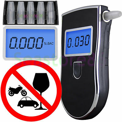 Portable POLICE Breath Alcohol Analyzer Digital Breathalyzer Tester LCD Detector