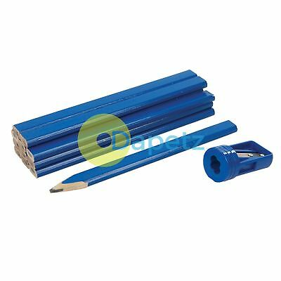 Quality Carpenters Pencils & Sharpener Set 13pce - Pencil marking