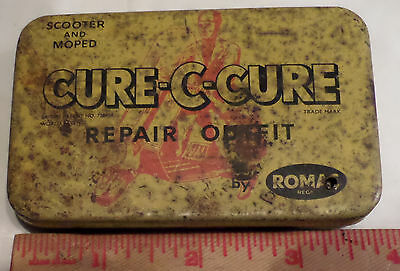 Vintage Scooter tire repair tin rare collectible old motorcycle memorabilia