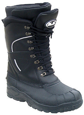 HJC MENS Extreme Black Waterproof Snowmobile Snow Boots