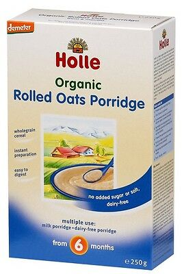 Holle Organic - Rolled Oats Porridge - Single Carton, 250g (Pack of 2)