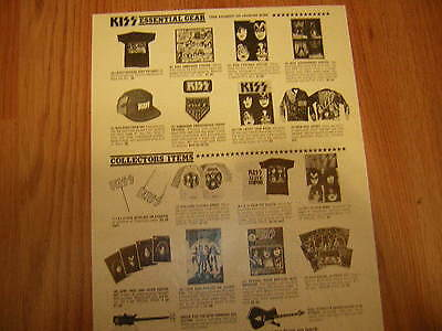 KISS ORDER FORM 1980 UNMASKED ACE FREHLEY GENE SIMMONS AUL STANLEY PETER CRISS