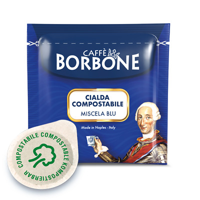 150 Cialde Carta Caffè Borbone ESE 44 blu + Kit 150 Accessori Originali
