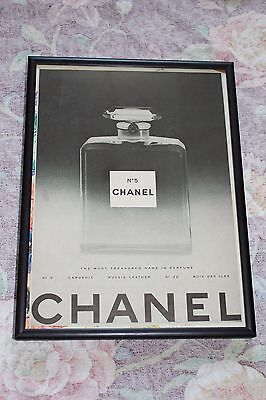 FRAMED 1950S CHANEL NO 5 PERFUME CLASSIC BOTTLE PHOTO VINTAGE ADVERTISEMENT AD