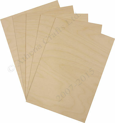 A4 Birch Plywood Sheets - Laser Safe - For Crafts, Models & Pyrography