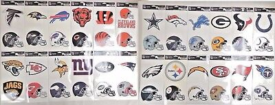 NFL Ultra Decals 2 Pack Set Removable Reusable Sticker Wincraft