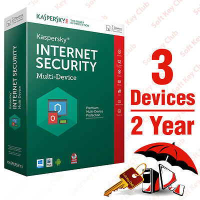 Kaspersky Internet Security 2016 multi-device 3PC / 2Year | Download | No Cd