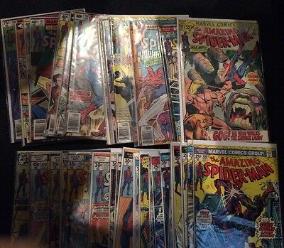 Amazing Spider-Man #100-200. 45 Issues! Keys! VF Guide Over $1200 60% Off Guide!