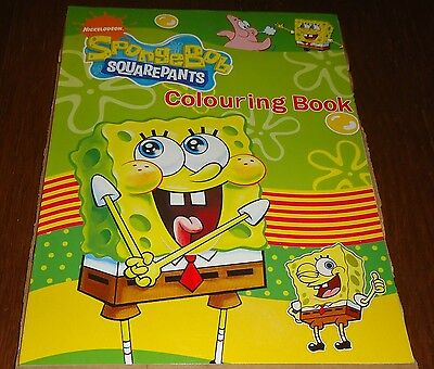 Spongebob Squarepants 16 Page Coloring Book With Stickers (Brand New)