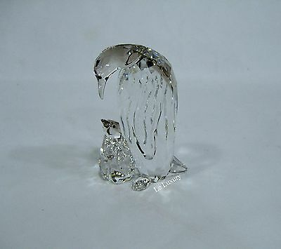 Swarovski Penguin Mother With Baby, Emperor Crystal Figurine Authentic - 5043728