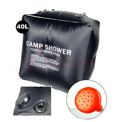 40L/10 Gallon Camping Solar Heated Shower Bag Outdoor Travel Shower Water Bag