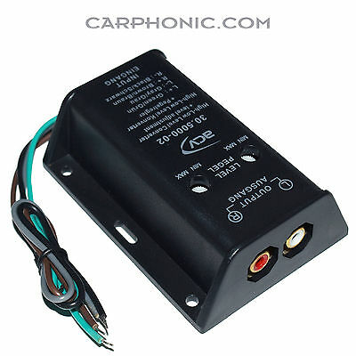 Highlow Converter Pegel Lineout Cinch Ausgang Level Adapter Subwoofer Signal Nf