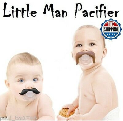 Baby Infant Pacifier / Binkie The Cowboy & Gentleman Mustache FREE U.S. Shipping