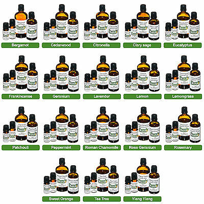 100ml Essential Oil Certified 100% Pure & Natural, Purely Essential