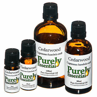Cedarwood Essential Oil 5ml 10ml 50ml 100ml 100% Pure&Natural, Purely Essential