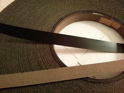 Iron on Edging-Pre-Glued-Plastic-Melamine,Edge Band tape, 22mm black 25 meters