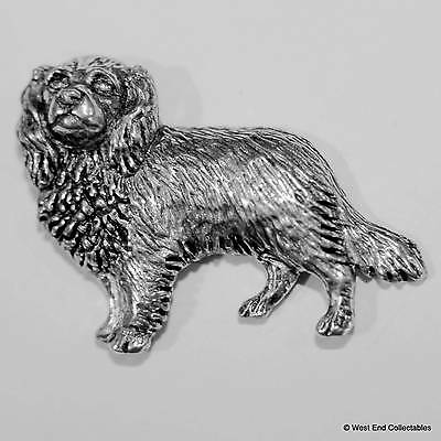 King Charles Spaniel Pewter Pin Brooch -British Hand Crafted - Cavalier Dog