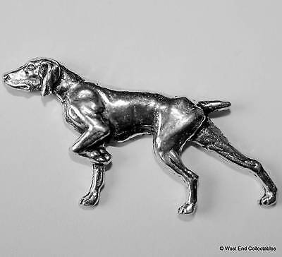 Pointer Pewter Pin Brooch - British Hand Crafted- English Gun Dog Hunting Setter