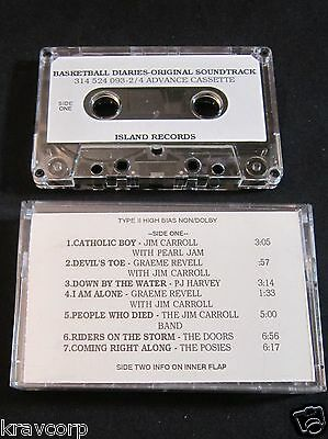 JIM CARROLL 'BASKETBALL DIARIES OST' 1995 PROMO CASSETTE—SOUNDGARDEN/PJ HARVEY