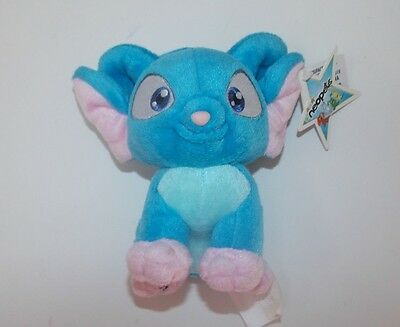 "Neopets Blue Acara Plush Stuffed  with Tags 6"" No Code"