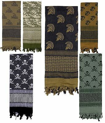 "42"" Military Type Tactical Shemagh Scarf Face & Neck Sun & Sand Desert Scarves"