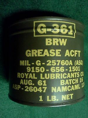 Vintage Can Military Aircraft  Grease 1961 nos