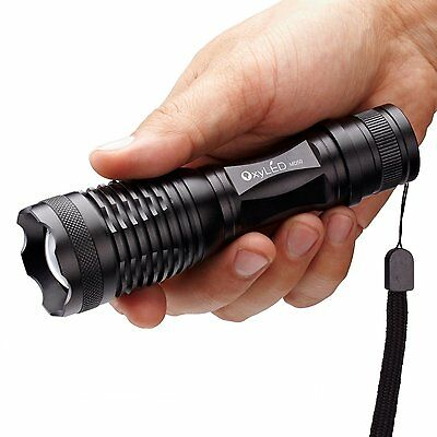 New Lumen Zoom CREE LED Flashlight Torch Lamp Light 18650 3 AAA Battery Charger