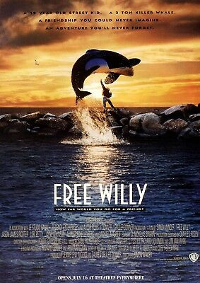 Free Willy Movie Film Poster A3 A4