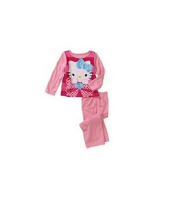 NEW Girl's Hello Kitty 4T  FLANNEL PAJAMAS Top & Bottoms SET COLOR: Pink