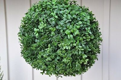 "ARTIFICIAL 15"" INDOOR OUTDOOR BOXWOOD TOPIARY TREE PLANT BUSH BALL"