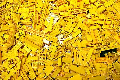 Bulk LEGO by the Pound 1/2 Lbs Lot of BRIGHT (REGULAR) YELLOW~200 Pieces/8 Ounce