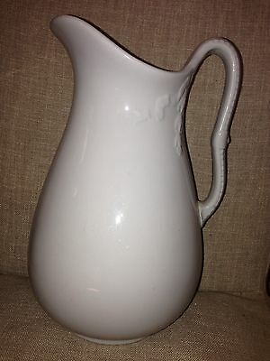 J & G Meakin White Ironstone Pitcher