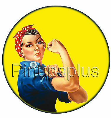 WWII Icon Rosie the Riveter Pinup Girl Waterslide Decal for guitars & more S58