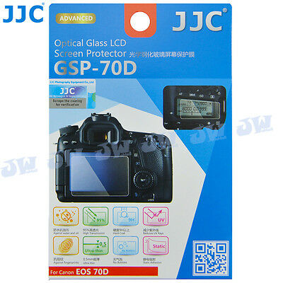 JJC HD Optical Tempered Glass LCD Screen Protector Film for Canon EOS 70D Camera